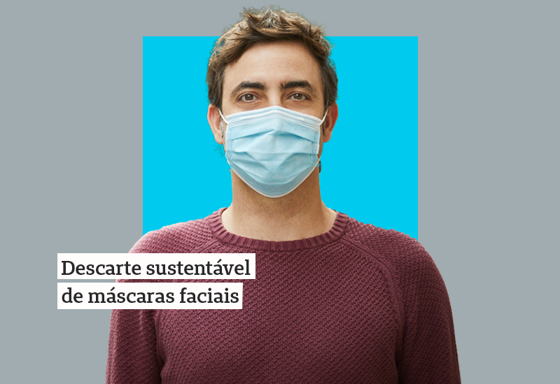Como descartar corretamente a máscara de proteção contra a COVID-19