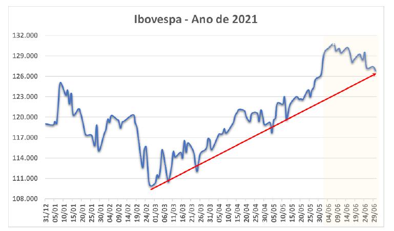Ibovespa - Ano de 2021